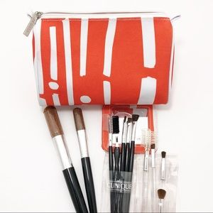 Clinique Make Up Brushes & Cosmetics Bag